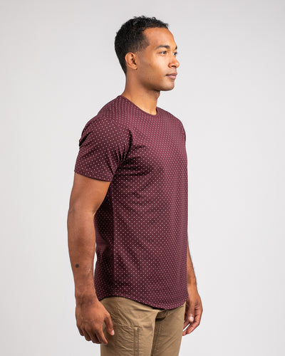 Dotted Drop-Cut: LUX Maroon/Grey - Dotted Drop-Cut: LUX