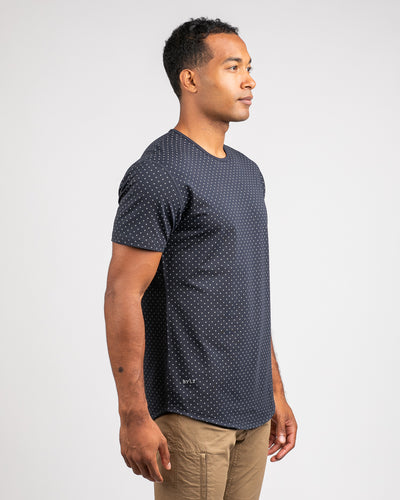Dotted Drop-Cut: LUX Navy/Grey - Dotted Drop-Cut: LUX