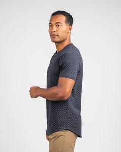 Navy/Grey - Dotted Drop-Cut: LUX