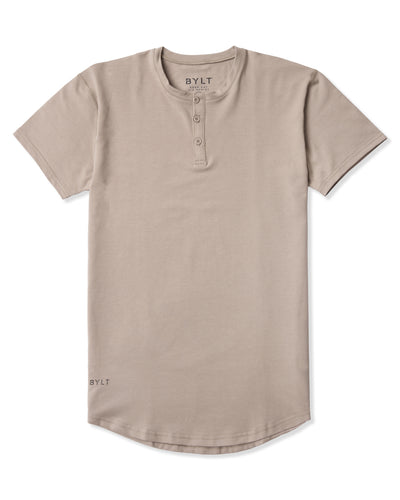 Henley Drop-Cut <!-- Size S --> Sand