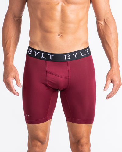 Flex Boxer Brief - (FINAL SALE) Maroon Red