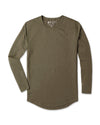 Drop-Cut Long Sleeve (A FINAL SALE) Military Green