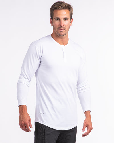 Henley Drop-Cut Long Sleeve - 2019 Style - (FINAL SALE) Henley Drop-Cut Long Sleeve - 2019 Style - (FINAL SALE)