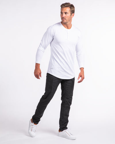 Henley Drop-Cut Long Sleeve Henley Drop-Cut Long Sleeve