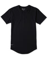 Henley Drop-Cut <!-- Size S --> Black