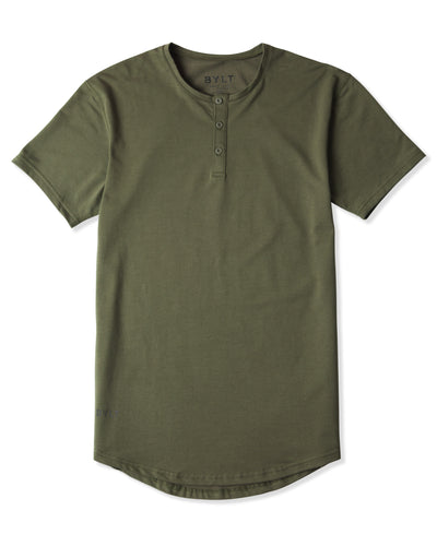 Henley Drop-Cut - 2019 Style - (FINAL SALE) Military Green