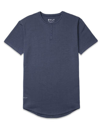 Henley Drop-Cut: LUX Midnight - Henley Drop-Cut: LUX