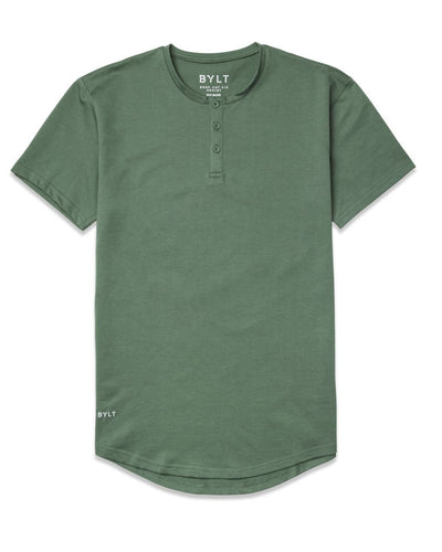 Henley Drop-Cut: LUX <!-- Size S --> Pine