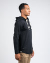 Drop-Cut: LUX Hooded Henley Black