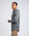 Drop-Cut: LUX Hooded Henley Charcoal
