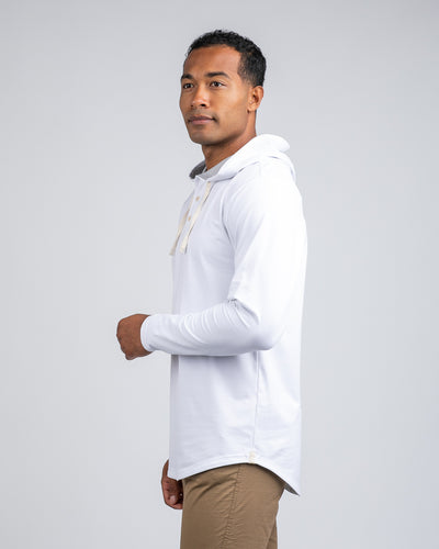 Drop-Cut: LUX Hooded Henley White