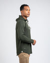 Drop-Cut: LUX Hooded Henley Forest