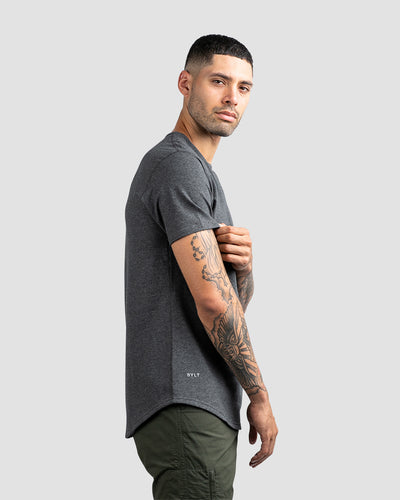 Drop-Cut: LUX <!-- Size S --> Dark Heather Grey - Drop-Cut LUX