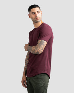 Maroon - Drop-Cut LUX Shirt