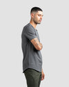 Drop-Cut V-Neck: LUX Charcoal