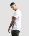 Drop-Cut V-Neck: LUX White