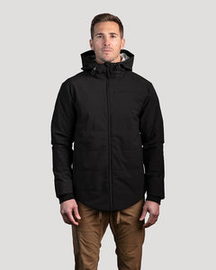 Black - Drop-Cut Puffer Jacket