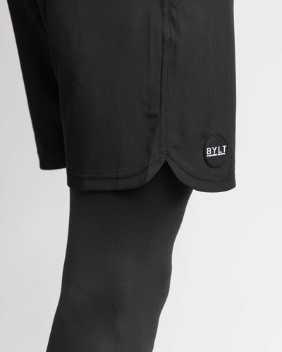 3/4 Active Shorts Black - Three Quarter Active Short