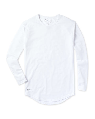 Drop-Cut Long Sleeve <!-- Size S --> White
