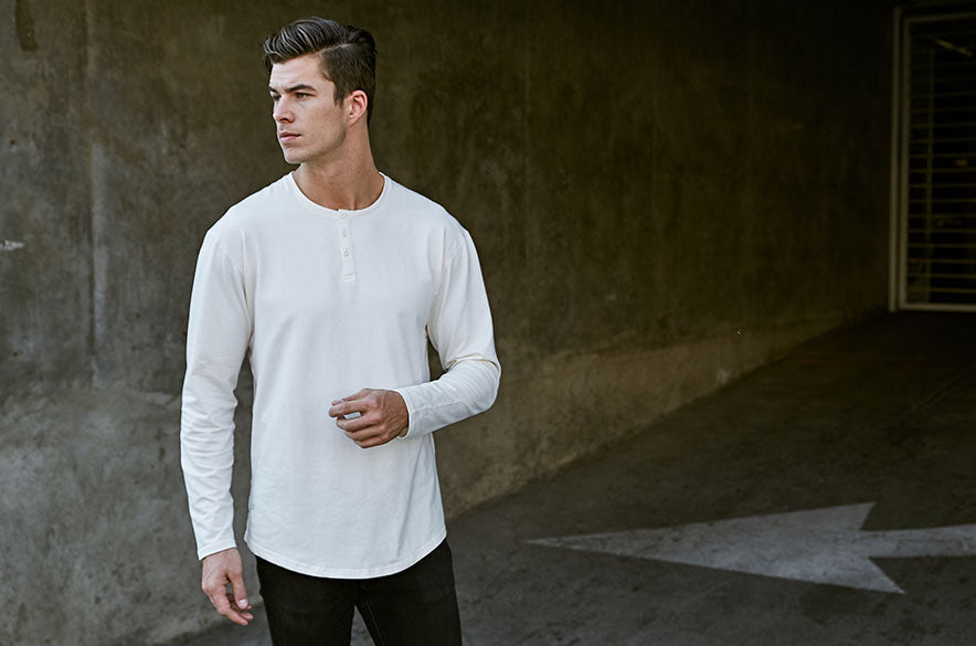 Henley Drop-Cut Long Sleeve LUX
