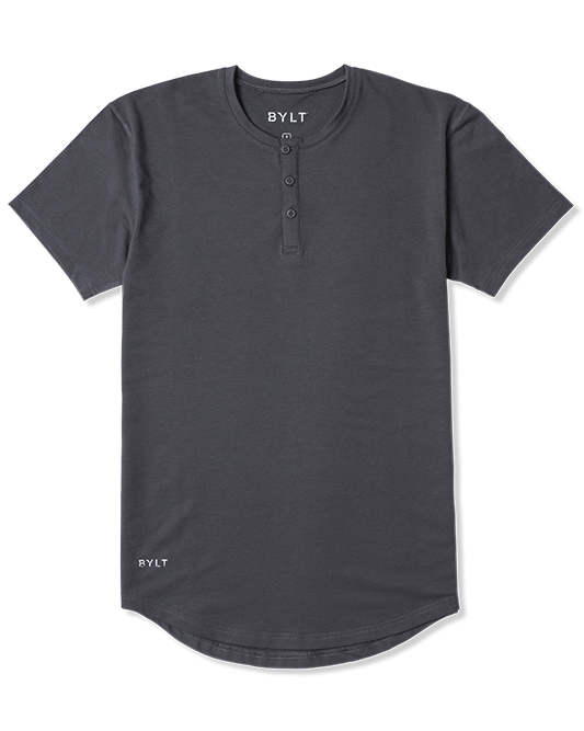 Henley Drop-Cut: Everyday Fit LUX