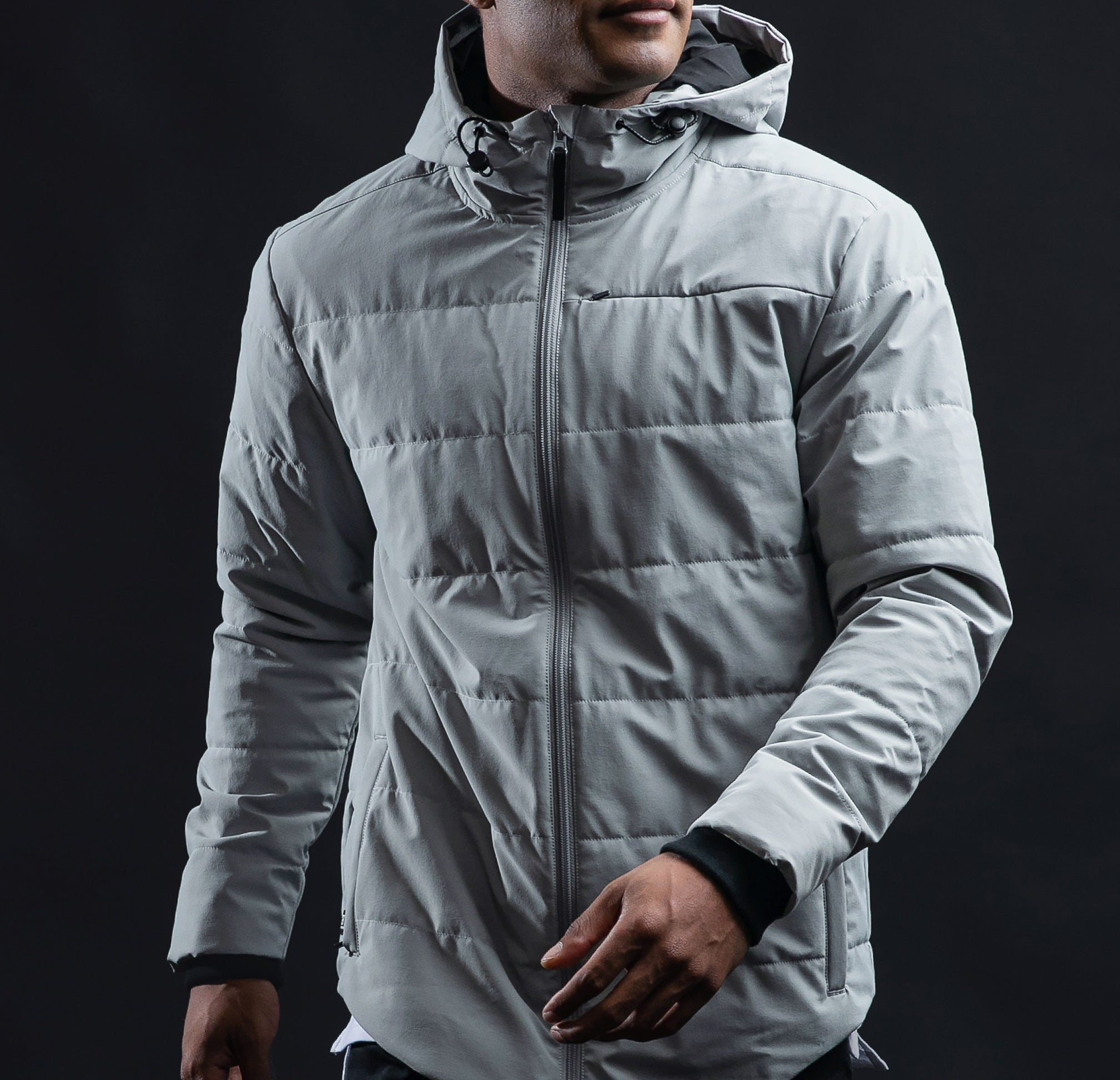Drop-Cut Puffer Jacket