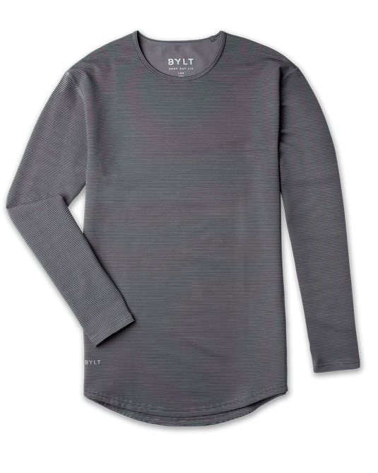 Drop-Cut Long Sleeve: LUX Stripe
