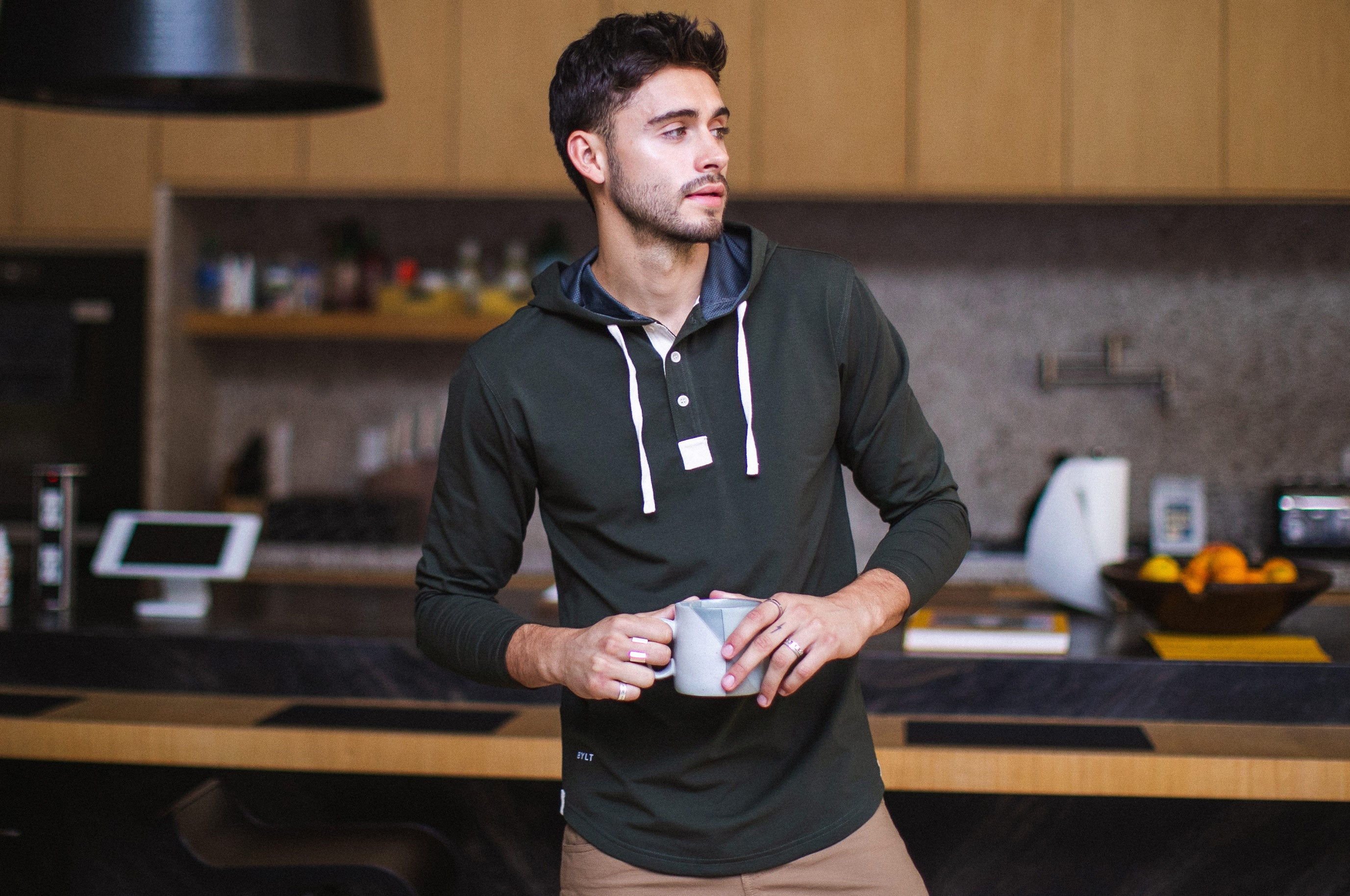 Drop-Cut: LUX Hooded Henley