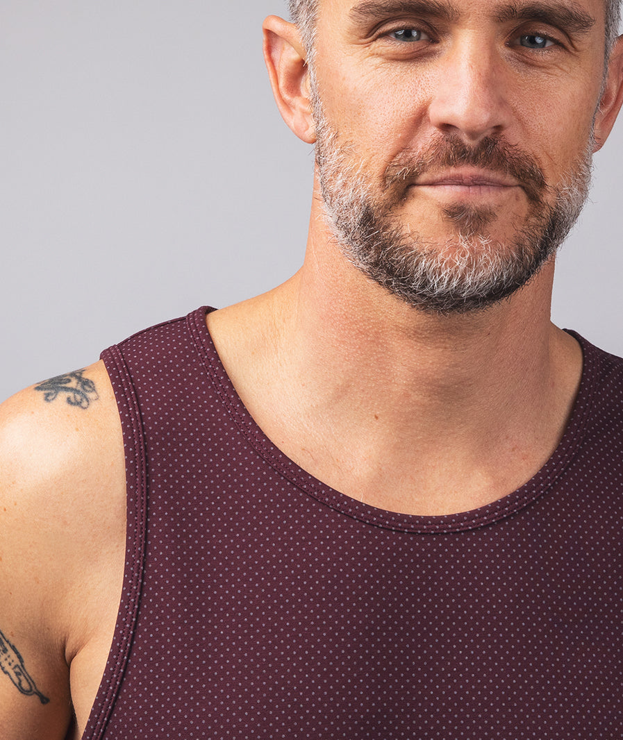 LUX Drop-Cut Tank: Microdot