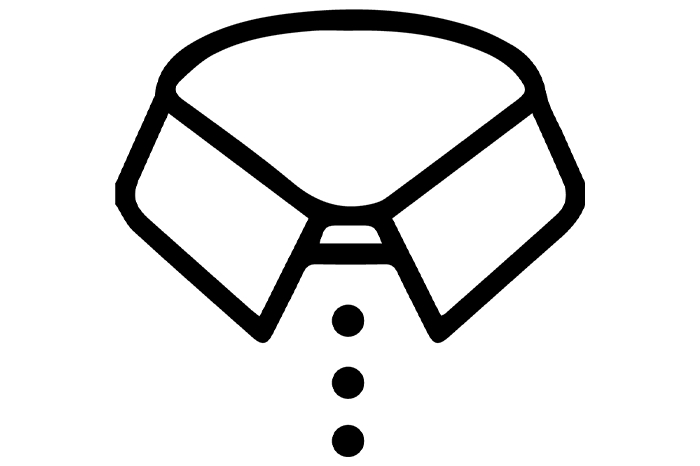 3-Button Collar