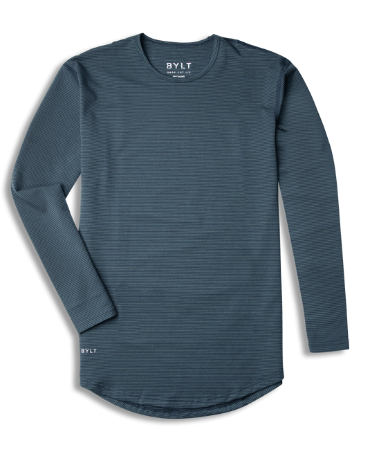 Drop-Cut Long Sleeve: Stripe