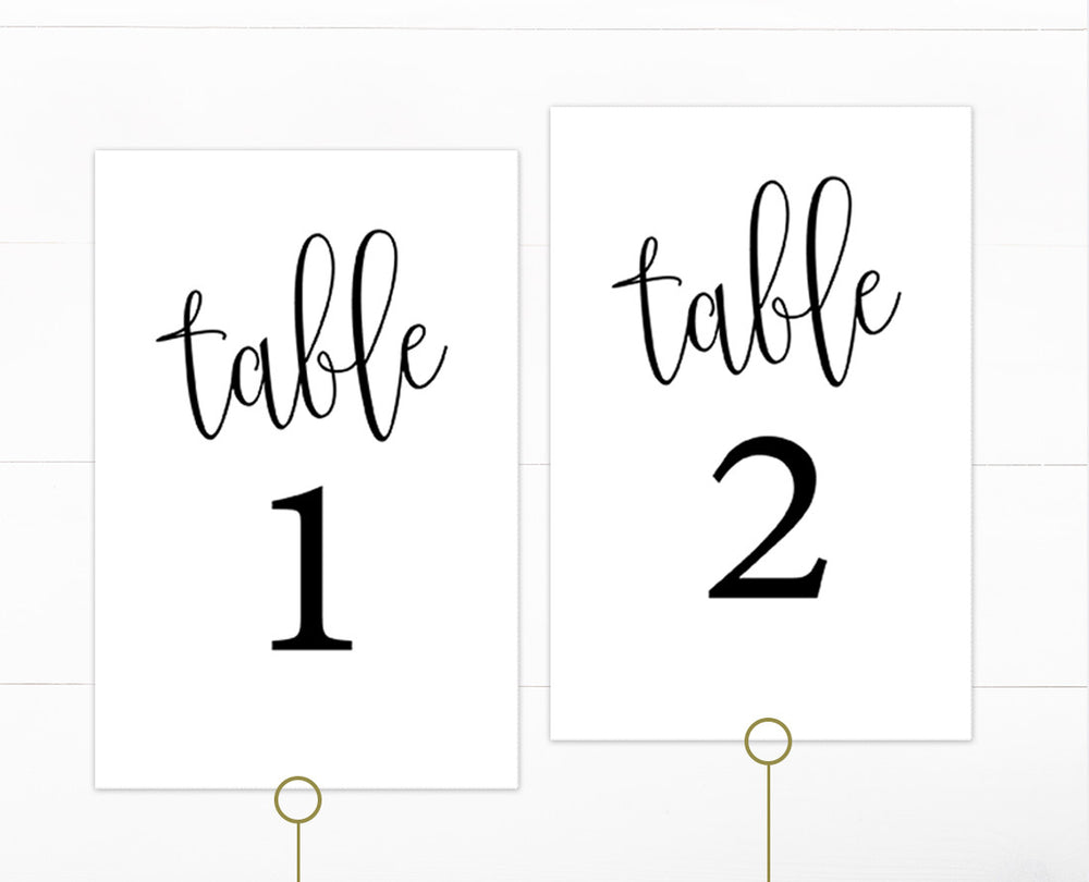 Basic Black 1-40 Table Numbers Template