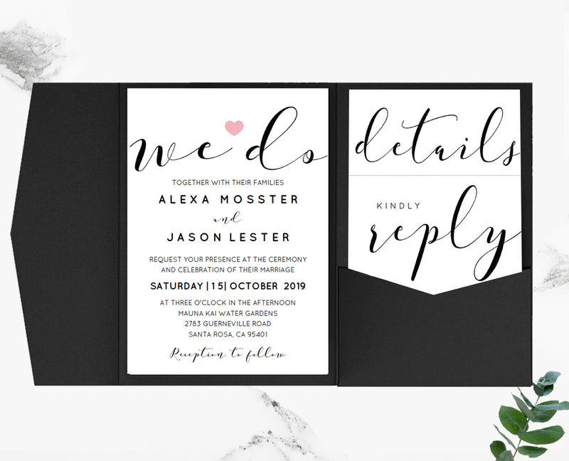 Pocketfold Wedding Invitation Sets