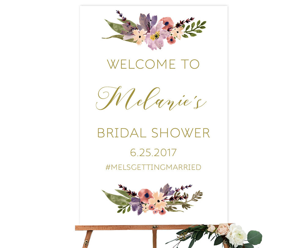 ... Gold Boho Floral DIY Editable And Printable Bridal Shower Welcome Sign  Template ...  Bridal Shower Template