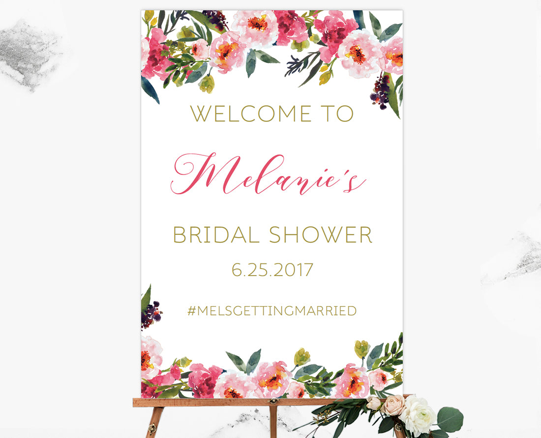 bridal shower welcome sign template gallery template design ideas. Black Bedroom Furniture Sets. Home Design Ideas