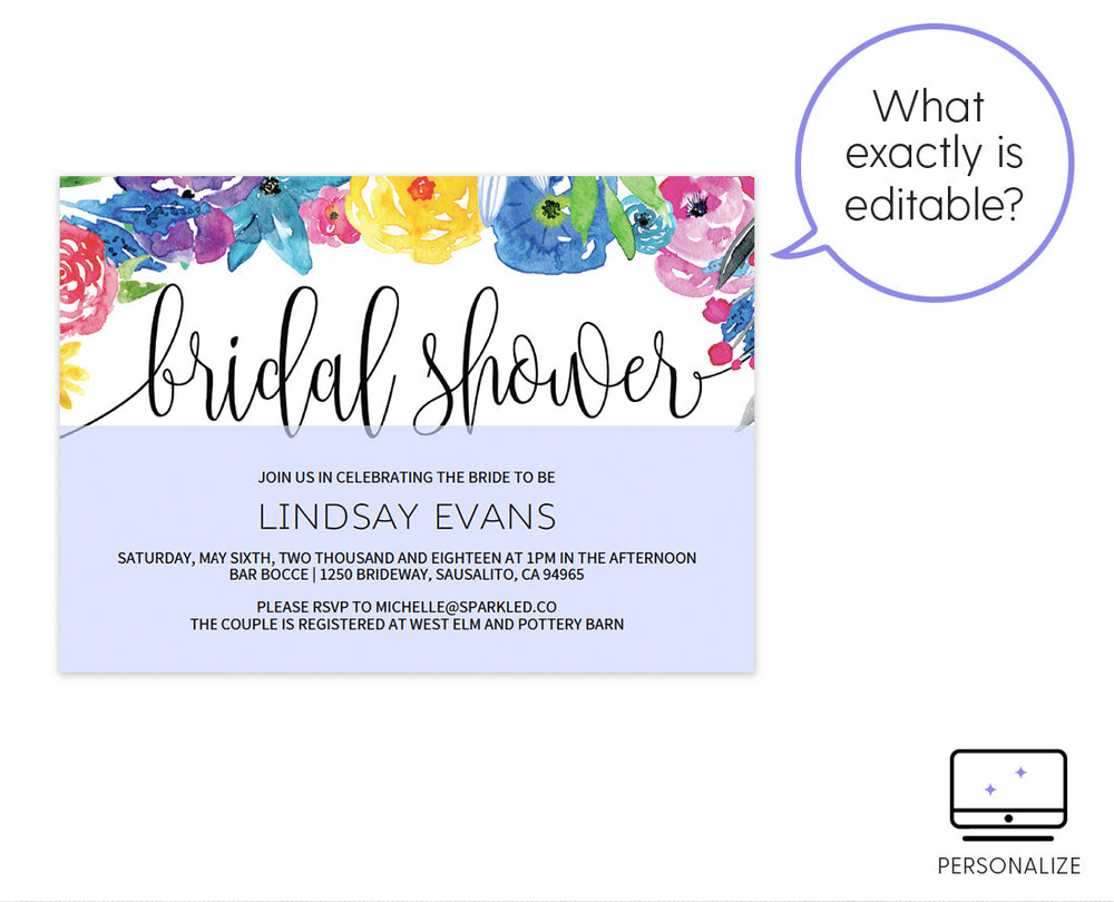 Sparkled.co  Bridal Shower Invitations Template
