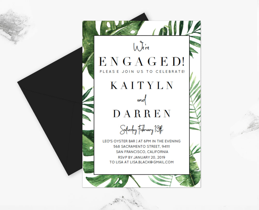 Sparkled.co  Engagement Party Invitation Template