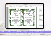 Tropical Palm Wedding Invitation Template