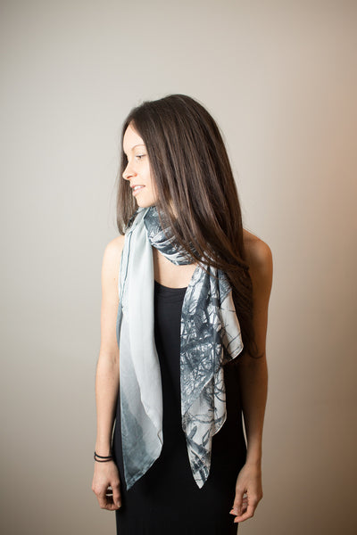 Whispered Musings Silk Scarf