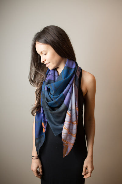 Upper Glass Silk Scarf