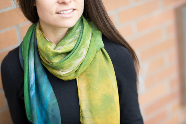 Tropical Illusion Silk Scarf