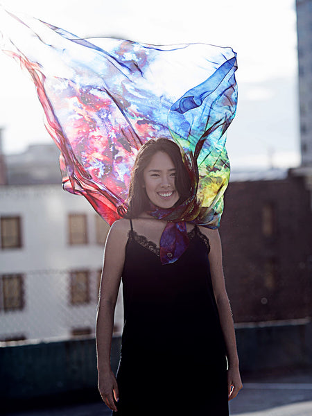 Supernova Silk Scarf
