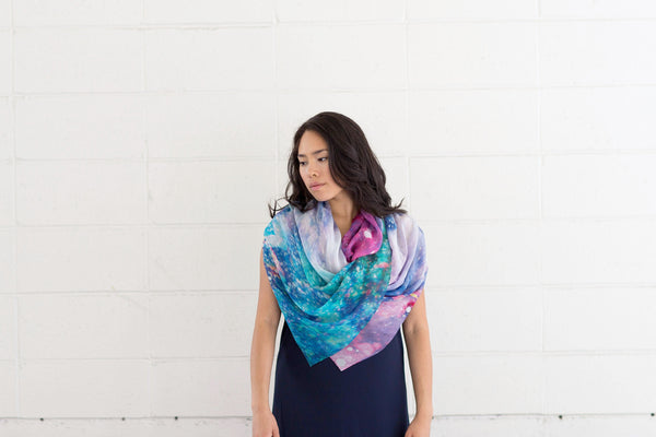 Cosmic Rush Silk Scarf