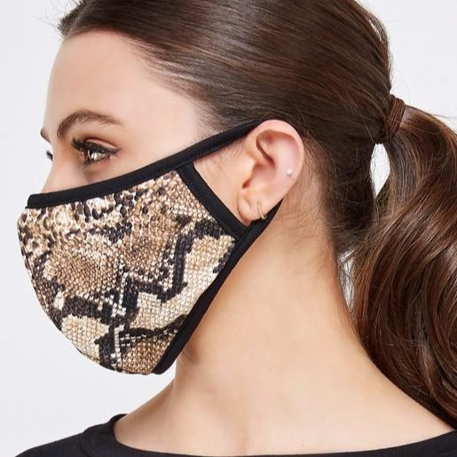 Snake Print Facial Protector With Filter Pocket For Adults