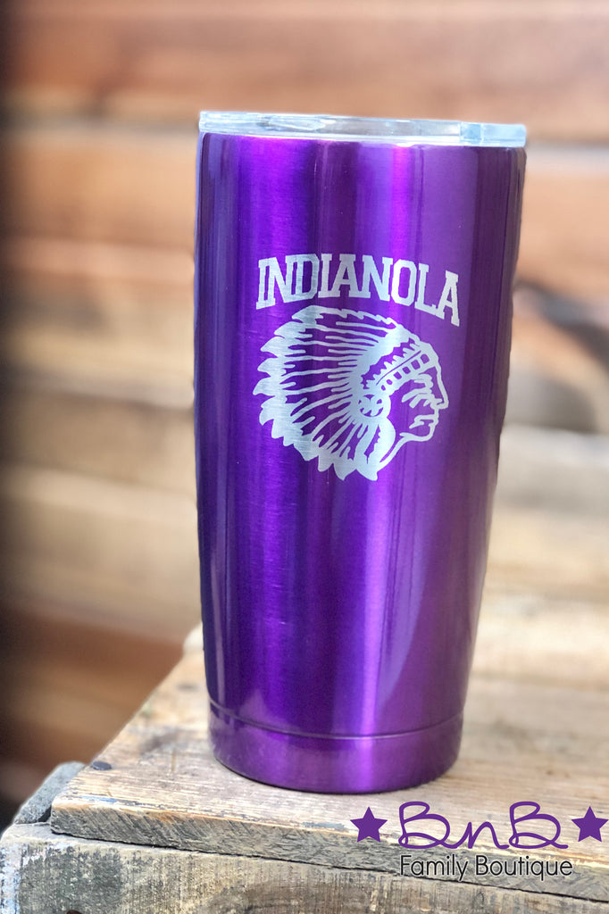 20oz Indianola Indian Head Tumbler