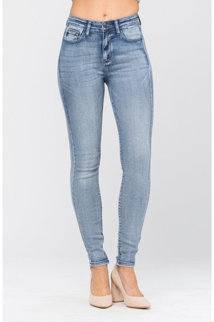 Judy Blue High Rise Non Distressed Skinny Jeans