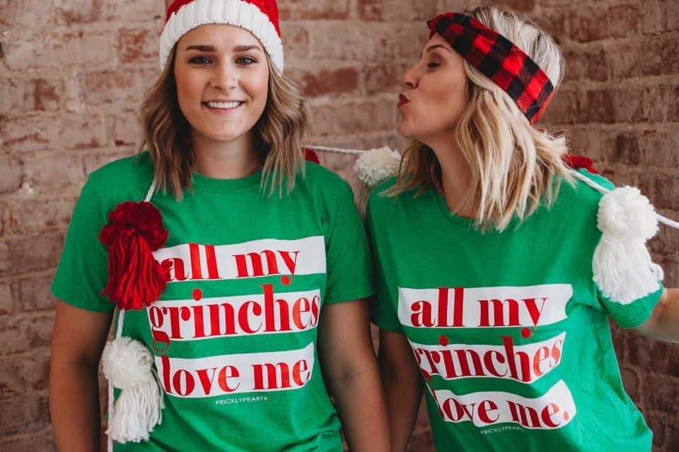 All My Grinches Love Me Graphic Tee For Women