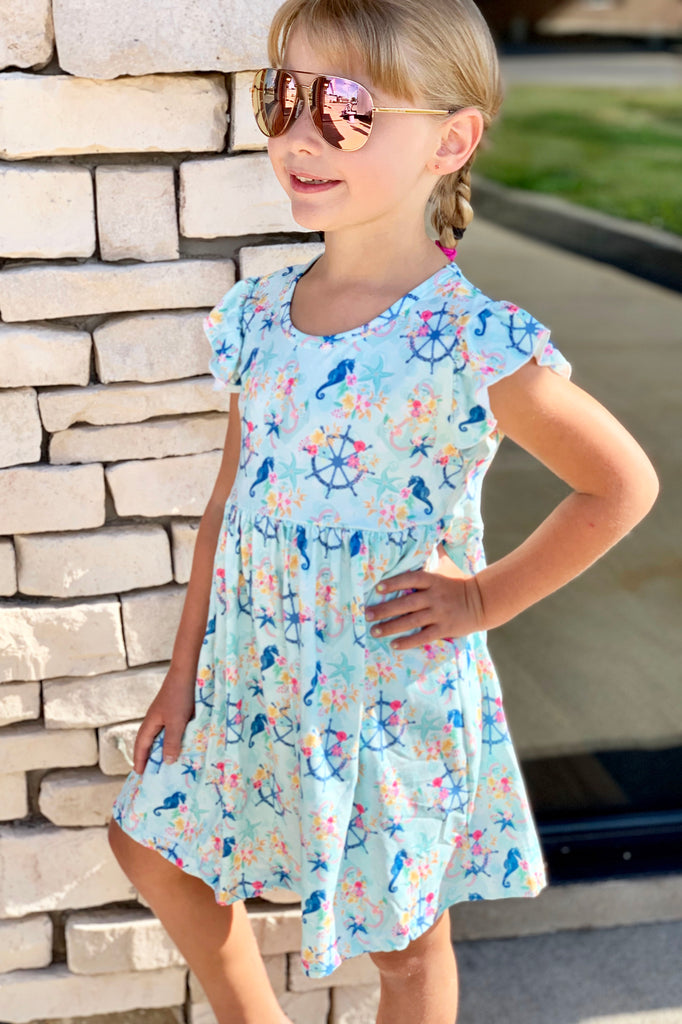 Anchors Away Dress For Girls