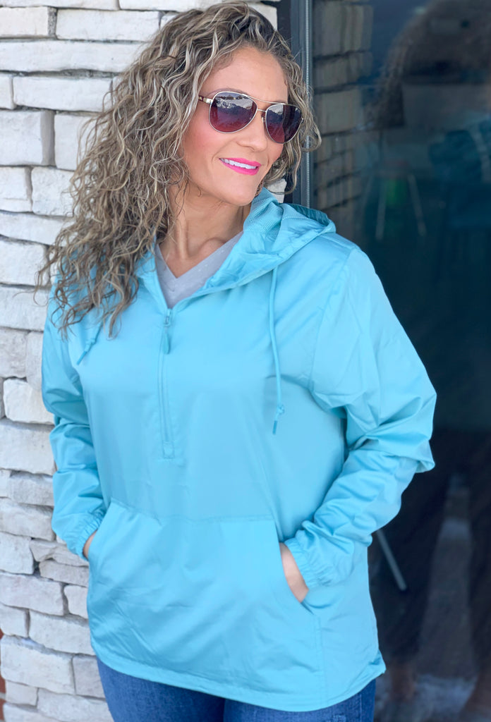 Unisex Aqua Pullover Windbreaker For Adults