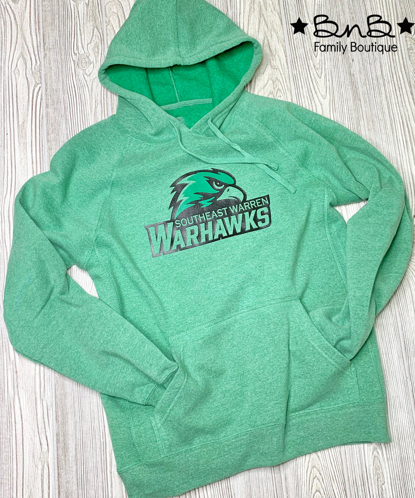 Warhawk Head - Vintage Green Hooded Sweatshirt - Unisex Adult
